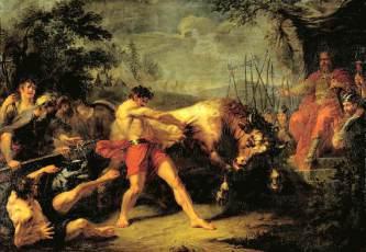 Григорий Угрюмов «Испытание силы Яна Усмаря», 1796 (7?)