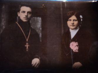 о. Александр (Цицеронов) с женой