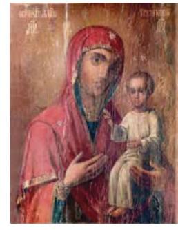 Икона Грузинской Божией Матери находится в Останкинском храме с 1990-х годов. Появилась в церкви чудесным образом