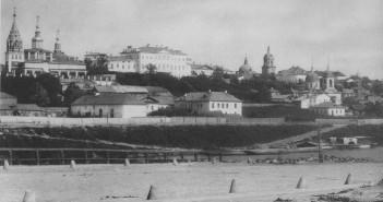 Вшивая горка. Вид из-за Москвы-реки. 1884 год