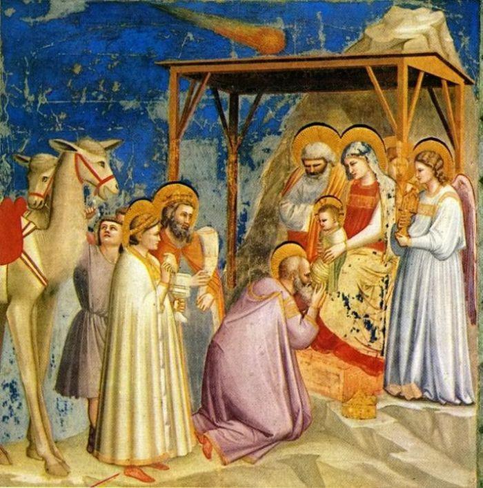 Джотто ди Бондоне. Поклонение волхвов. 1303–1305. Роспись капеллы Скровеньи, Падуя