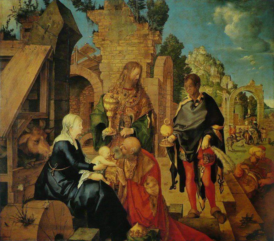 Альбрехт Дюрер. Поклонение волхвов. 1504. Уффици, Флоренция