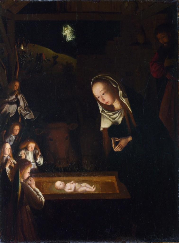 Гертген тот Синт Янс. Поклонение Младенцу. Ок. 1490. Национальная галерея, Лондон