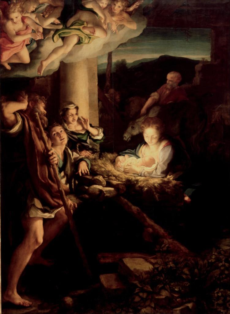 Антонио да Корреджо (Аллегри). Поклонение пастухов (Ночь). Ок. 1530. Галерея старых мастеров, Дрезден