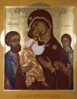 Православная традиция икона В храме Троице на Грязях