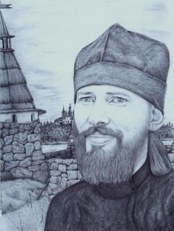 Этот портрет о. Кирилла нарисовал один из заключенных ИК-18 в пос. Харп