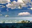 В голубом просторе. 1918 г. Третьяковская галерея