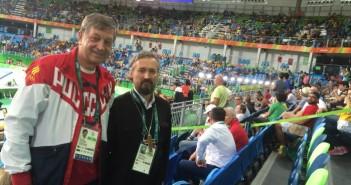 С главой делегации в Рио-де-Жанейро Игорем Казиковым