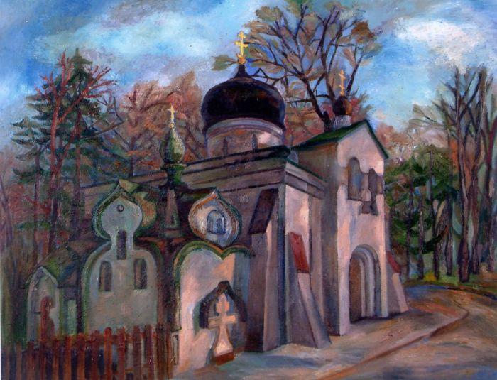 Церковь Спаса Нерукотворного в Абрамцеве. 1998 год
