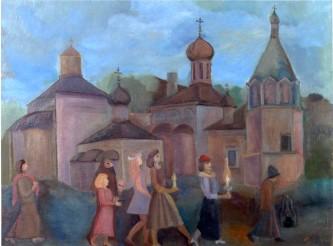 Вечерняя прогулка в Данилов монастырь. 1994 год