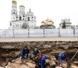 Раскопки на месте четырнадцатого корпуса Кремля в разгаре