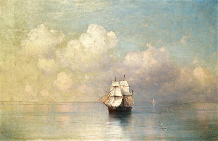 Спокойное море. Фрагмент