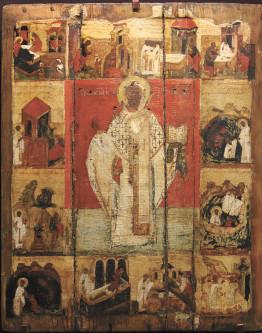 Святитель Николай Мирликийский с житием. Середина – вторая половина XV в.