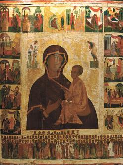Тихвинская икона Божией Матери 1540-е гг.