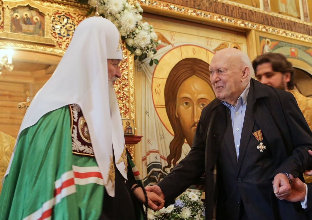 В прошлом году Адриан Рудомино получил из рук Патриарха медаль св. блгв. Даниила Московского