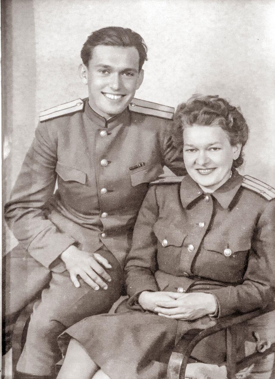 Адриан Рудомино с женой Наталией после войны